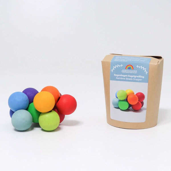 Grimms - Wooden Beads Grasper, Rainbow