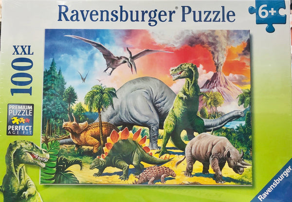 Jigsaw puzzles are wonderful for everyone. Among the Dinosaurs is a great detailed puzzle of Dinosaurs & wild animals. Recommended age 6+
