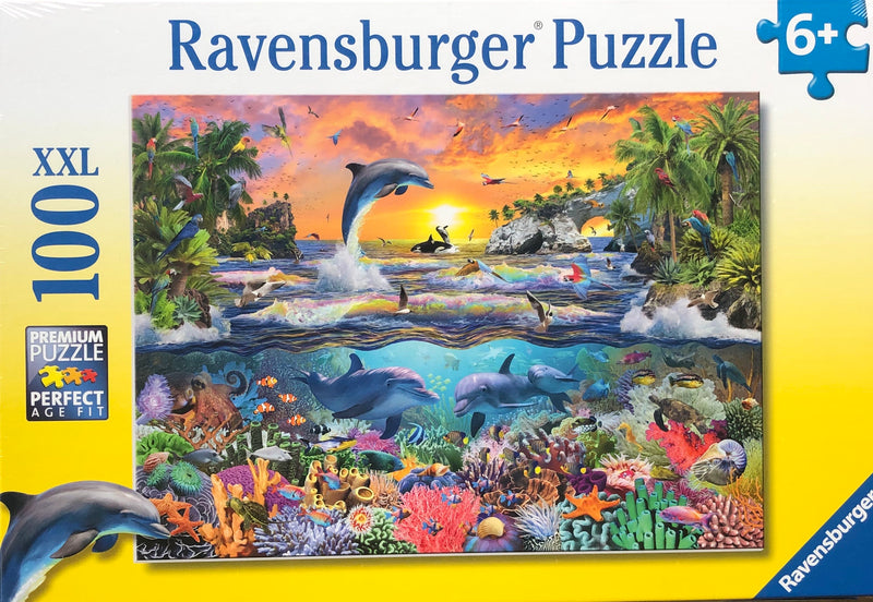 Ravensburger - Jigsaw Puzzle, 100 Pieces, Tropical Paradise