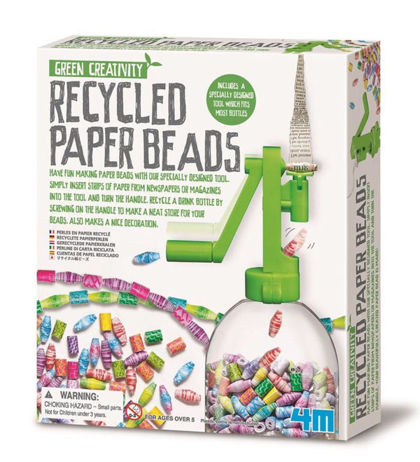 4M - Green Science, Recycled Paper Beads