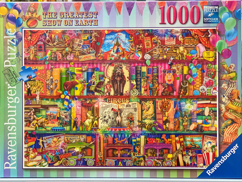 Ravensburger -  Jigsaw Puzzle, 1000 Pieces, Greatest Show on Earth