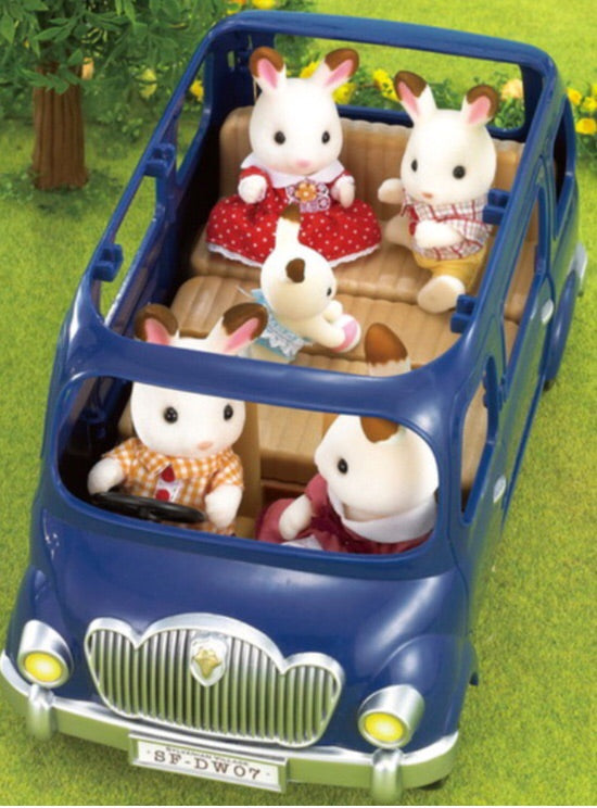 Sylvanian Vehicle - Bluebell Seven Seater  in Navy
