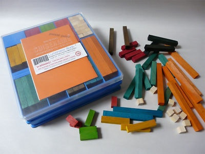 Wooden cuisenaire rods to assit with maths,  age 4-10 years