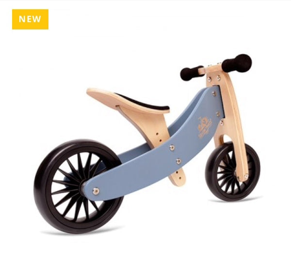 Kinderfeets 2-in-1 Balance Bike PLUS - Slate Blue in blue
