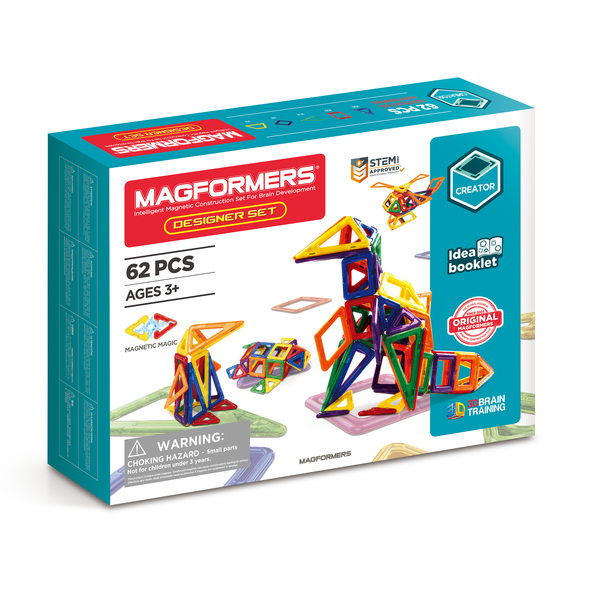 Colourful, creative and fun magformers designer set for ages 3 +