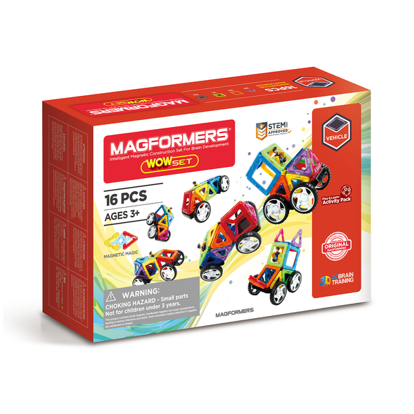 Magformers wow set is colourful, fun and creative for ages 3 +