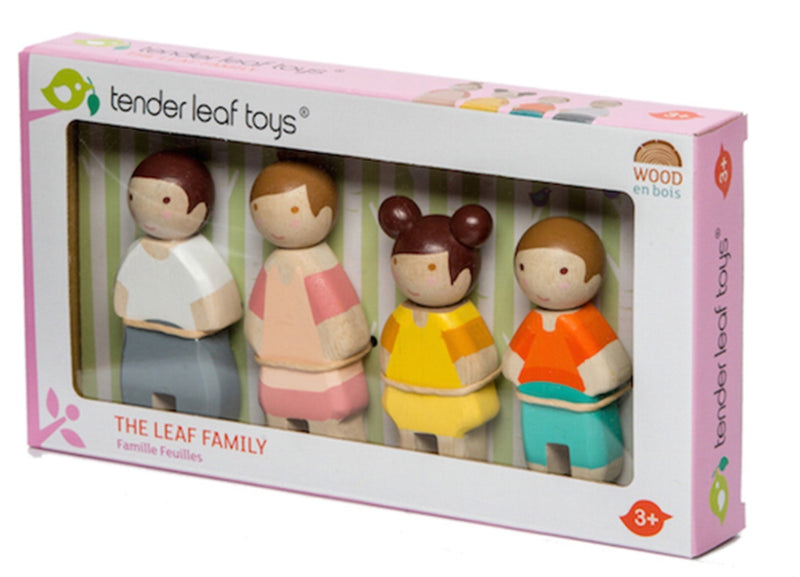 Tender Leaf - Wooden Doll Family