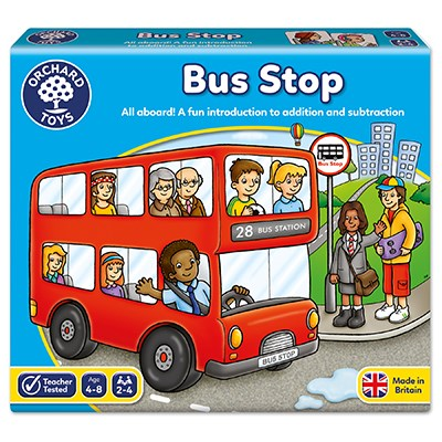 Orchard toys bus stop game is a fantastic counting game for ages 4 +