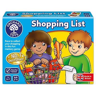The shopping list game is a best seller matching game for children age 3+