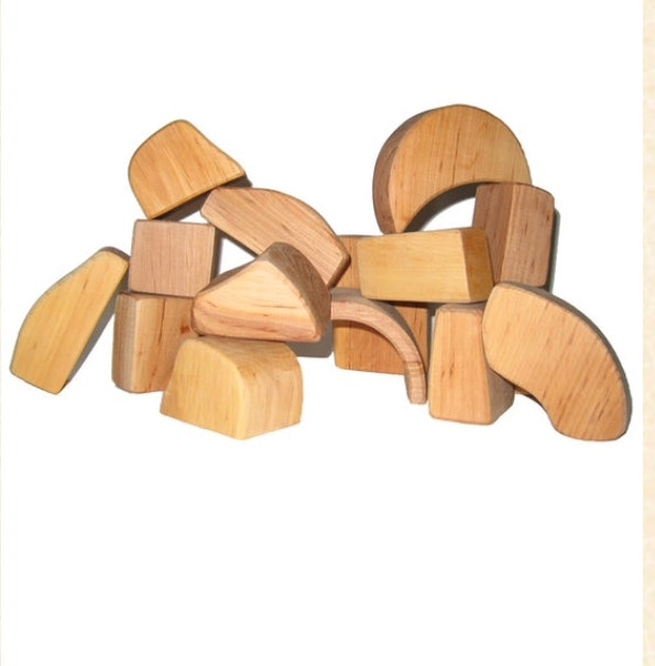 Wooden Blocks - Spiel & Holz Waldorf Natural 15 pcs in wood