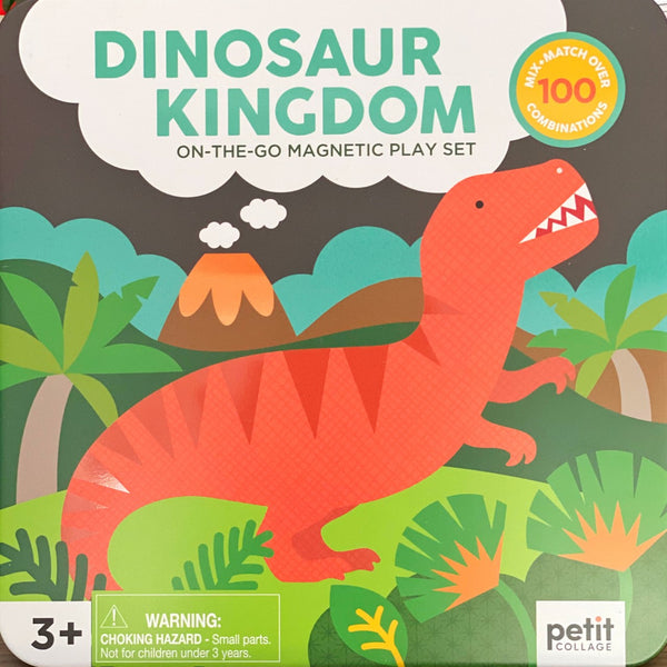 Petit Collage - On The Go Magnetic Play Set, Dinosaurs