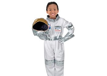 3..2.. 1... Blast off! Dress up as an astronaut in this fabulous costume by Melissa and Doug.