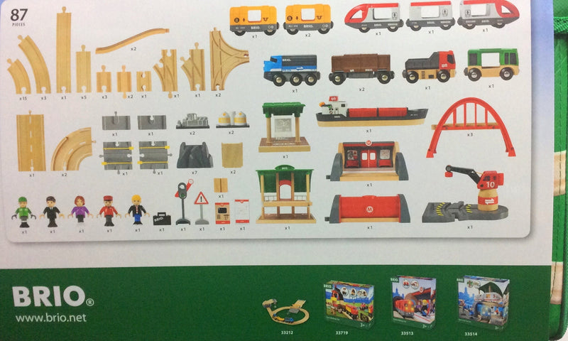Brio Delux Train Set  in multi colour print