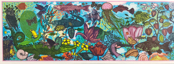 Djeco - Jigsaw Puzzle, Land & Sea  in multi colour print