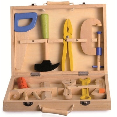 Egmont Wooden Tool Set is great for pretend play and recommended for ages 3+