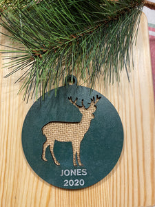 Personalized Deer ornament