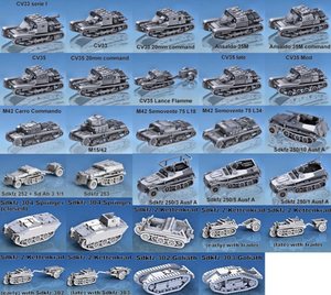 USA Tanks and Vehicles 1/56 Scale