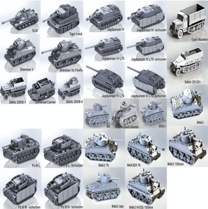 Expanded German Vehicle Collection 1/56 scale