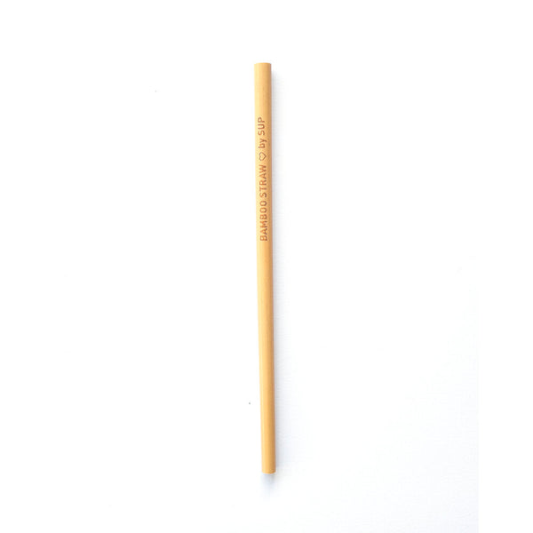 bamboo straw pack: 1 bamboo straw+ 1pouch+ cleaning brush - Freshyeco