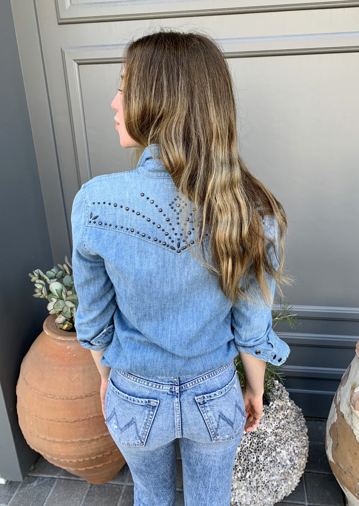 Denim Embellished Shirt