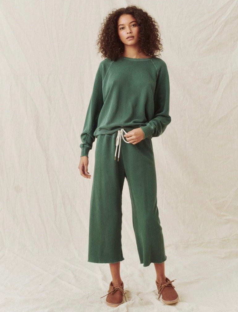 Wide Leg Cropped Sweatpant