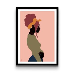 Woman with scarf - Poster