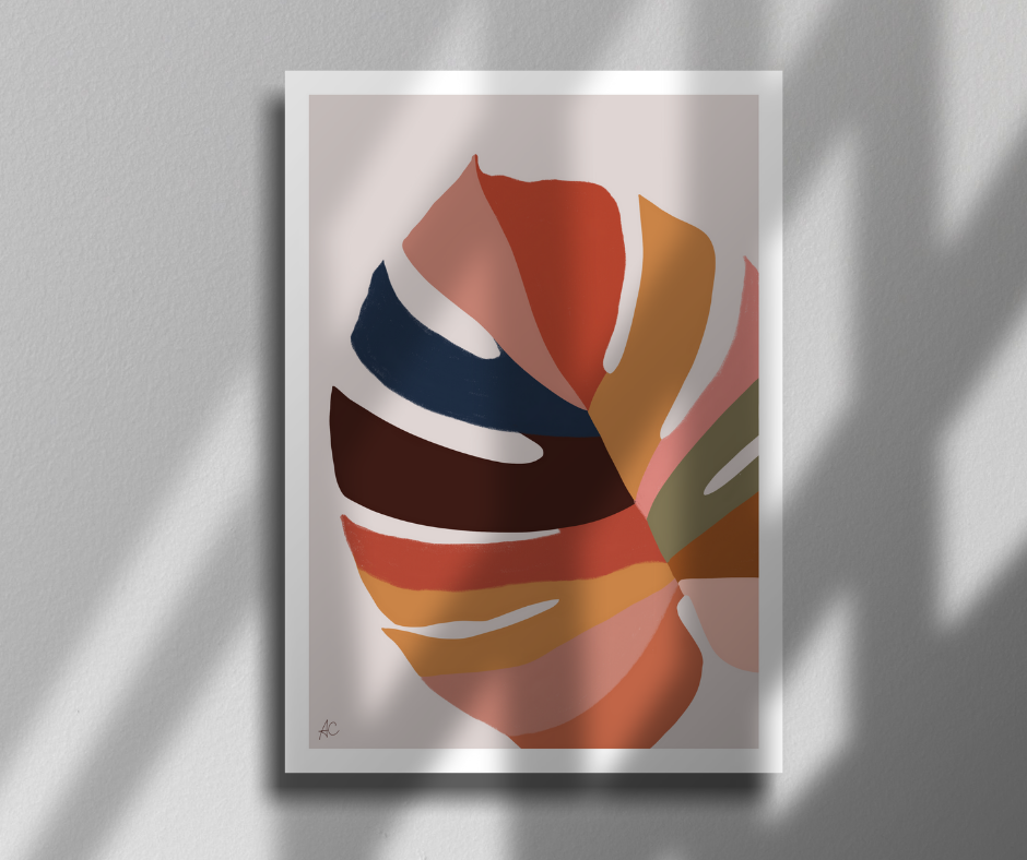 Colorful leaf - Poster