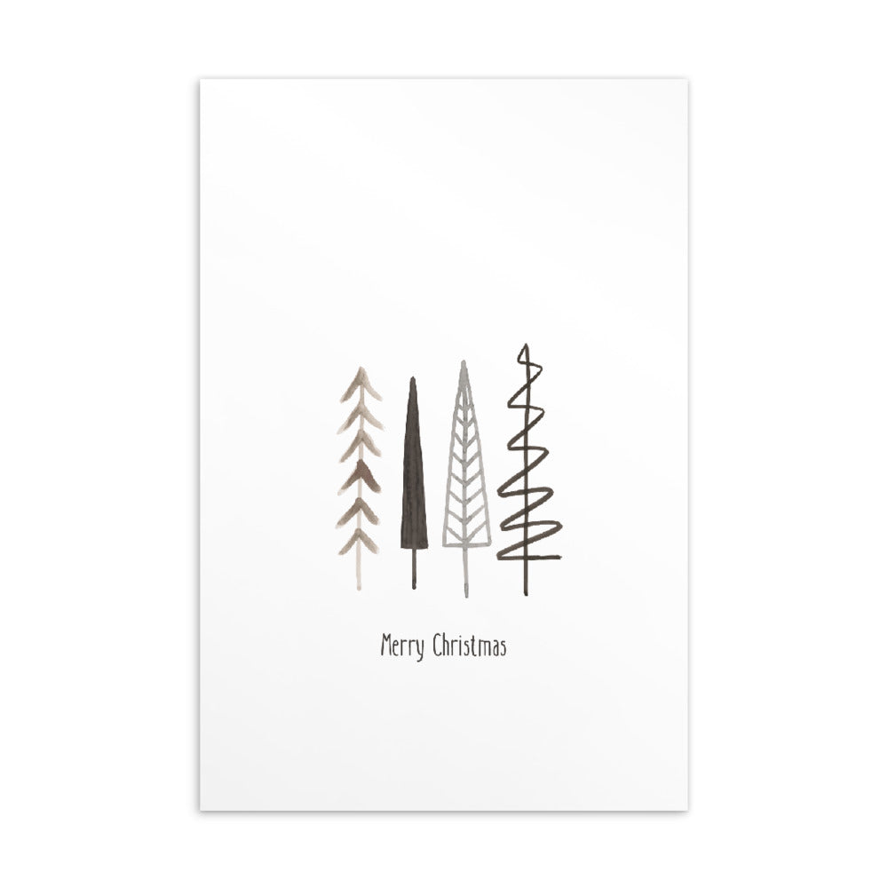 Christmas postcard - Minimal watercolour series 07