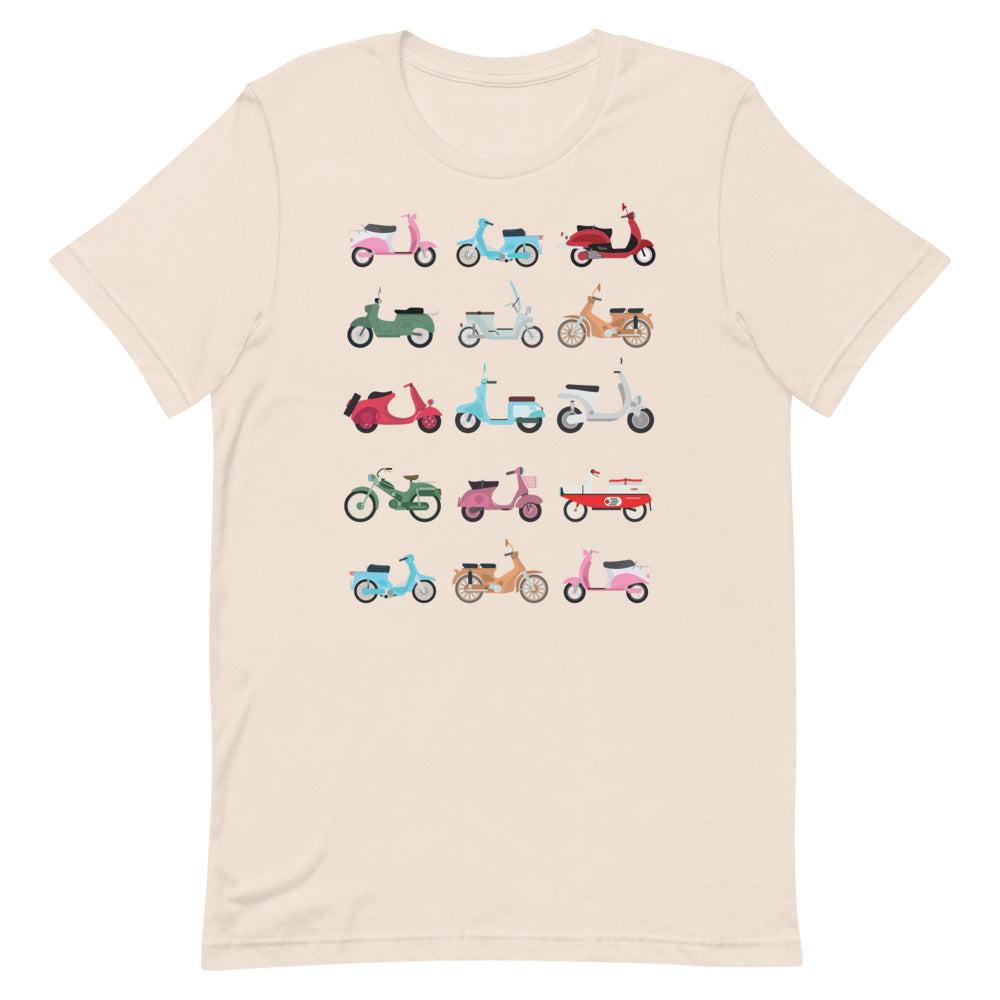 Scooters, vespas, motors t-shirt