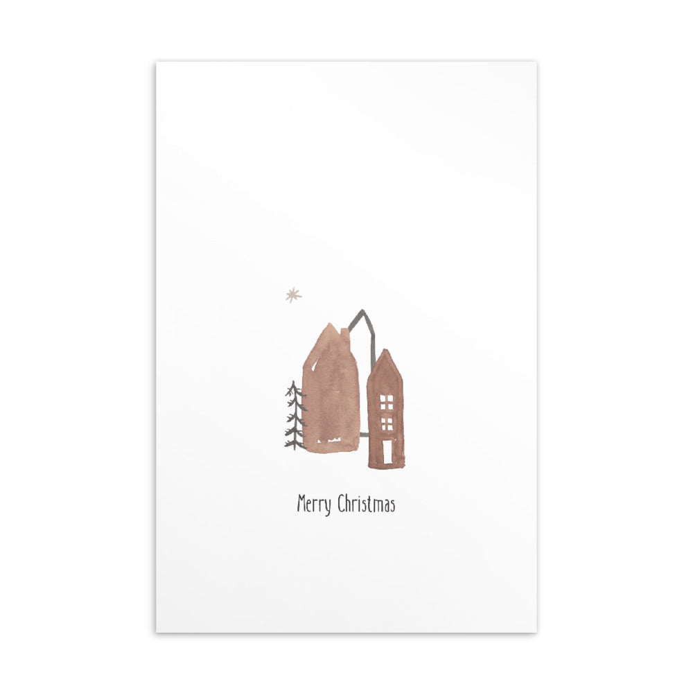 Christmas postcard - Minimal watercolour series 06
