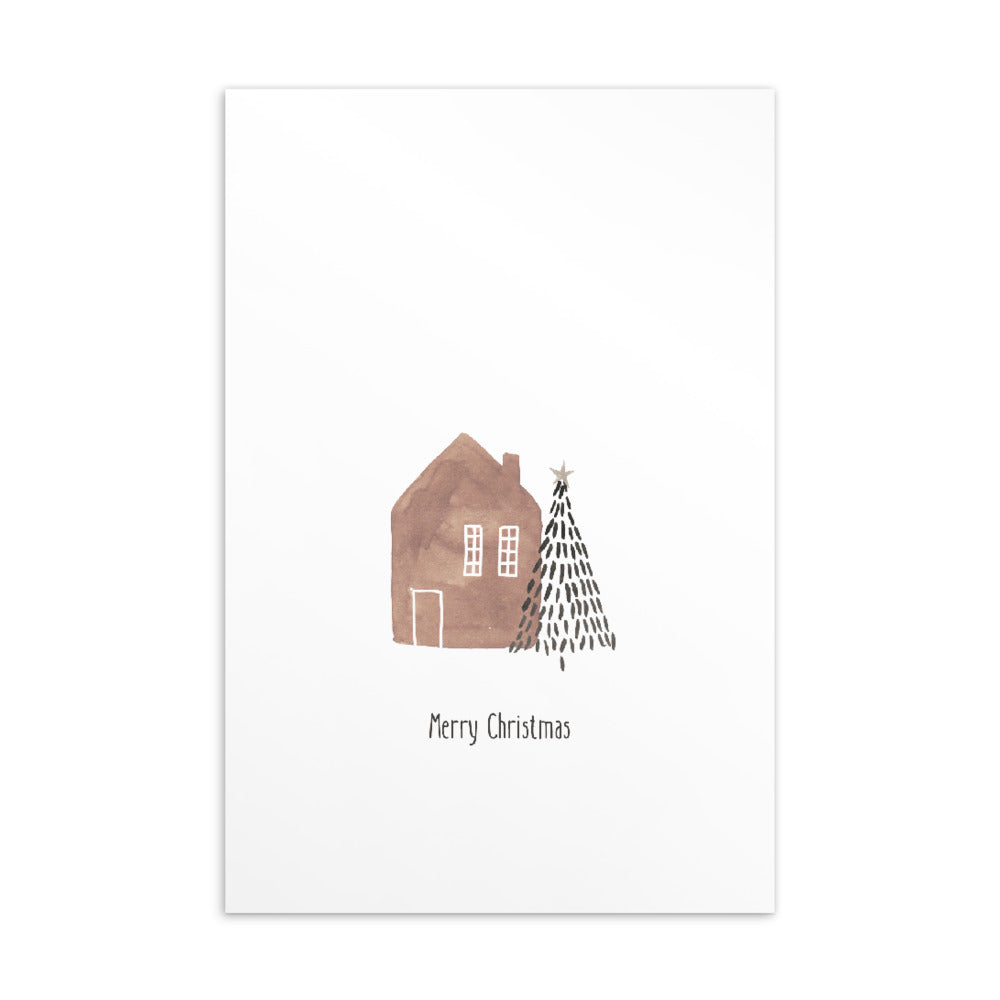 Christmas postcard - Minimal watercolour series 04