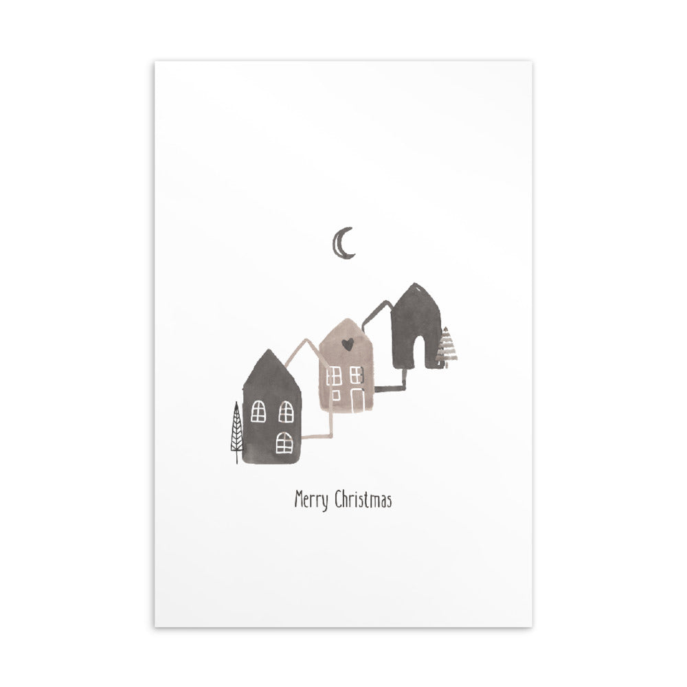 Christmas postcard - Minimal watercolour series 09