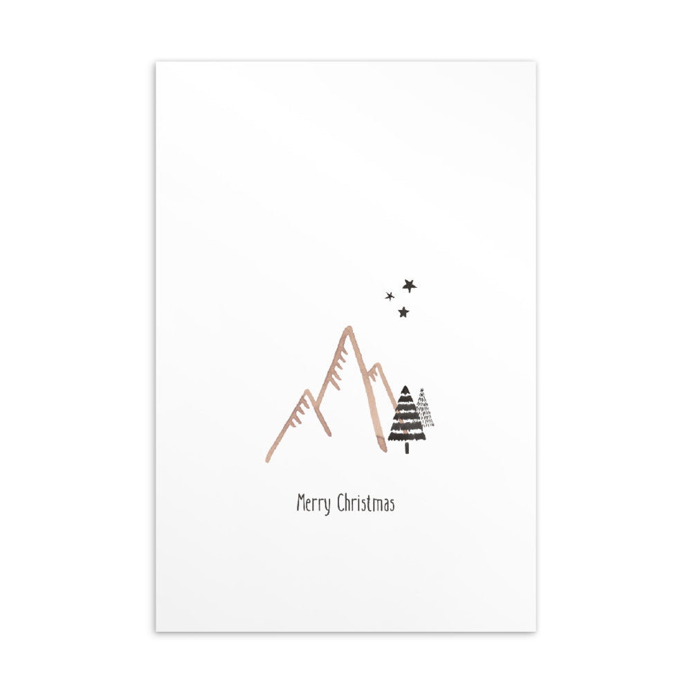 Christmas postcard - Minimal watercolour series 03
