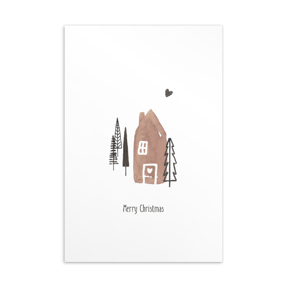 Christmas postcard - Minimal watercolour series 08