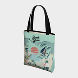 We're Alive! - Navy Aqua - Basic Tote
