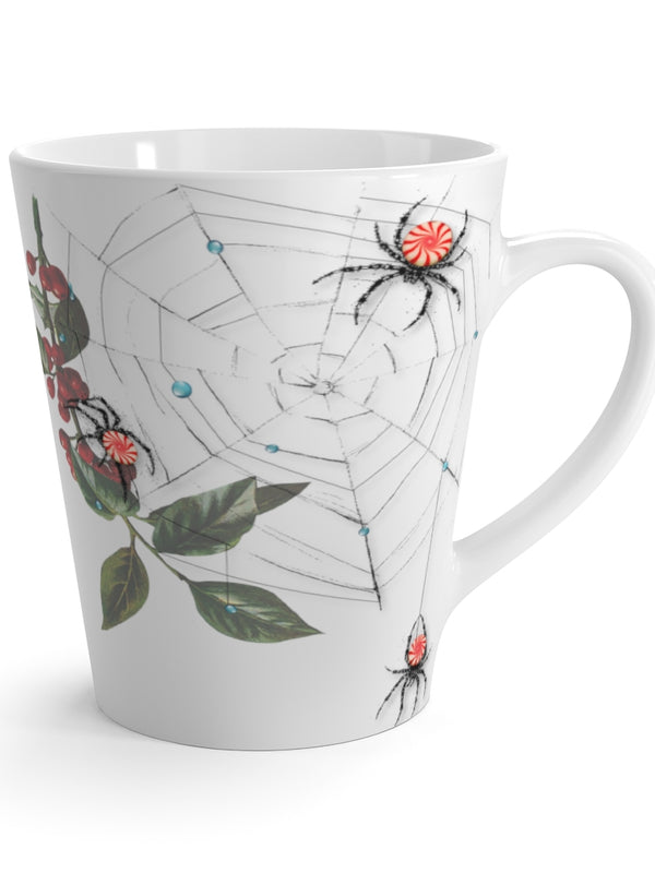 Peppermint Spiderweb - Latte Mug
