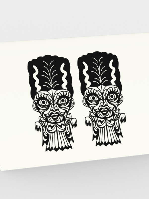 Double Bride Tiki Monster - CARDS Set of 3