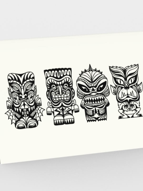 Tiki Monsters - CARDS Set of 3