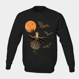 Victorian Bat Wings in the Moonlight - Pull Over Unisex Sweatshirt