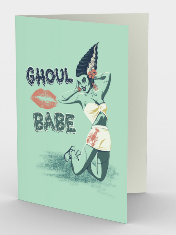 Ghoul Babe - Bride of Frankenstien - CARDS Set of 3