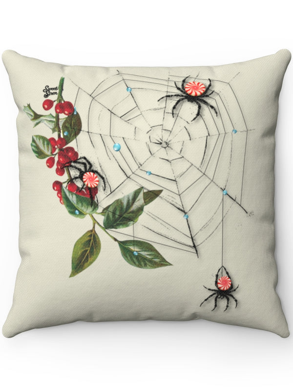 Peppermint Spider Web - FULL Pillow
