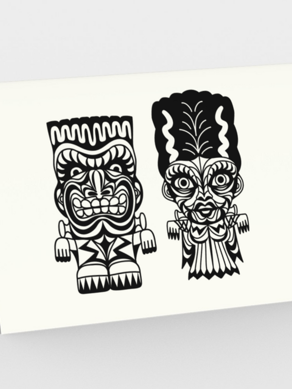 Franky & Bride Tiki Monsters - CARDS Set of 3