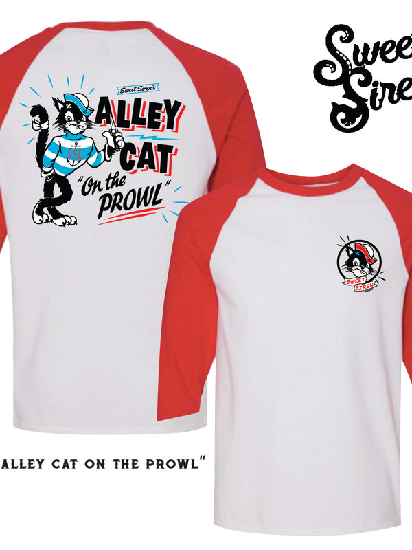 Alley Cat Unisex Baseball tee