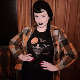Victorian Bat Wings in the Moonlight - Womens Tee