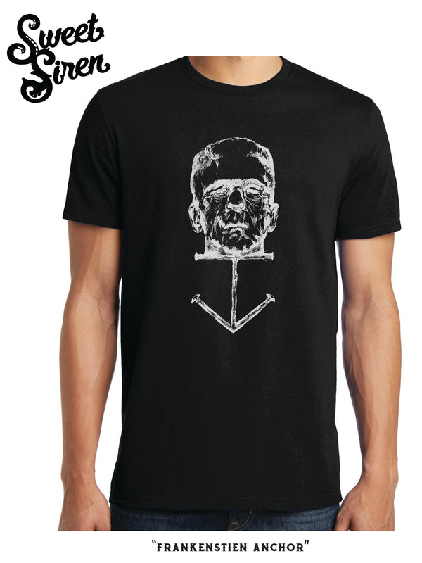 Frankenstein Monster Anchor Unisex tee- OUTLINE version-SALE !