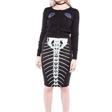 Skeleton Mermaid - Iron Fist Pencil Skirt - SALE!