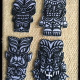 The Tiki Monsters PATCHES - set of 4