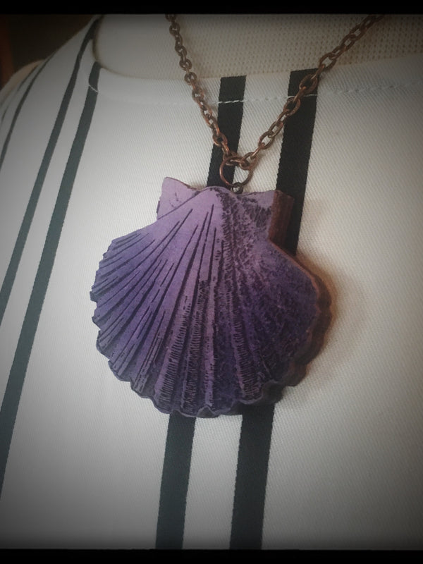 Purple Sea Shell Necklace - Large