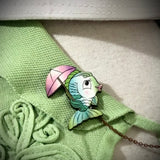 Dapper Fish Collar - Sweater Pin Set