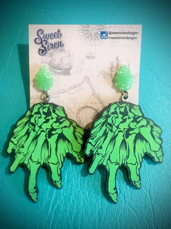 Creature Hand Earrings